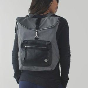 Lululemon Kickin' It Backpack Black Slate Black